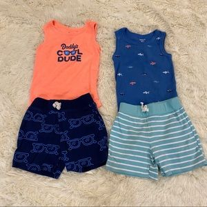 Carters Matching Set Outfits Lot of 2